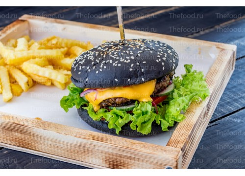 Черный  Food-бургер